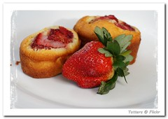 Strawberry friand (Tatters ✾) Tags: food cake strawberry australia streettree homemade bake 55200mm