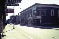 Essex Street, c. 1968 (Salem State Archives) Tags: salemmassachusetts urbanrenewal street buildings architecture preservation saccomjewelers singer forshamshoes murrays