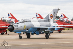6824 / Romanian Air Force / Mikoyan-Gurevich MiG-21MF LanceR (Peter Reoch) Tags: riat royalinternationalairtattoo royal international air tattoo 2019 raf fairford airshow display show royalairforce raffairford aviation aircraft aeroplane combat military 6824 romanian force mikoyangurevich mig21mf lancer romania romanianairforce mig21 fishbed soviet jet
