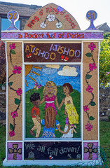 Ring o' Ring o' Roses (little mester.) Tags: eyam eyamwelldressing2019 welldressing2019 derbyshire derbyshirepeakdistrict derbyshiretradition plaguevillage