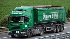 D - Osters & Voß >1977< Scania R13 450 (BonsaiTruck) Tags: osters vos 1977 scania lkw lastwagen ladtzug truck trucks lorry lorries camion caminhoes