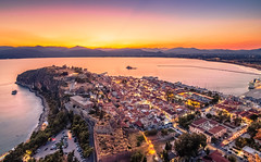 Nafplio at blue hour (Vagelis Pikoulas) Tags: nafplio blue hour peloponnisos greece view landscape sea seascape city cityscape tokina 1628mm canon 6d longexposure august summer 2019 lights lightroom old town