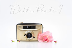 Camera glamour (hehaden) Tags: camera vintage welta pentii rose pink whitebackground sonyphotographing