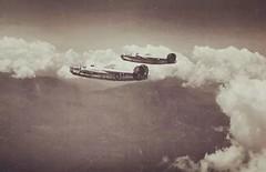 A pair of B-24 Liberator (CombatOfficiel) Tags: worldwar2 worldwarii ww2 wwii secondeguerremondiale 2èmeguerremondiale 2gm 7thairforce 867thsquadronusaf 494thbombgroupusaf usaf consolidatedb24liberator