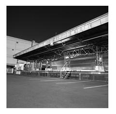 Loading dock at night (ADMurr) Tags: la dtla loading dock night hasselblad 500cm 50mm distagon zeiss ilford delta 100 bw black noir negro white blanc blanco dad716