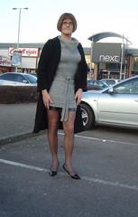 Shoe Shopping (julielegstv) Tags: fabulous leatherminiskirt leather