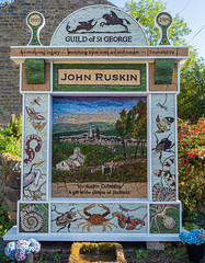 John Ruskin & The Guild of St George (little mester.) Tags: eyam eyamwelldressing2019 welldressing2019 derbyshire derbyshirepeakdistrict derbyshiretradition plaguevillage