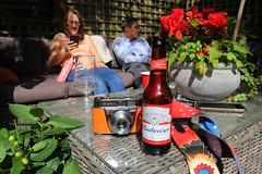 Canon EOS 60D - Summer in the Garden (Gareth Wonfor (TempusVolat)) Tags: garethwonfor tempusvolat mrmorodo gareth wonfor tempus volat summer 2019 camera budweiser beer kodak retinette orange retinetteia garden