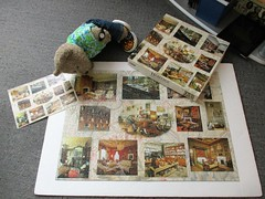 Who lives in a 'ouse like this? (pefkosmad) Tags: jigsaw puzzle hobby leisure pastime used secondhand complete 1000pieces gibsons countryhouseinteriors nationaltrust collage tedricstudmuffin teddy bear ted animal toy cute cuddly plush fluffy soft stuffed