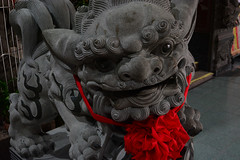 Stone Lion (Bob Hawley) Tags: asia taiwan kaohsiung nikond7100 nikon28105mmf3545afd outdoors lingyadistrict temples religion taoism red yichengtemple sculptures lions stone