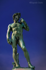 La copia del David al centro del Piazzale Michelangelo / The copy of the David in the center of Piazzale Michelangelo (Eugenio GV Costa) Tags: approvato david piazzale michelangelo florence monumento bronzo bronze monument statue statues