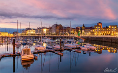 Gijon evening, Asturias, Spain (AdelheidS Photography) Tags: colourful skyline coastal sunset evening citylights bluehour gijon asturias spain españa adelheidsmitt adelheidsphotography