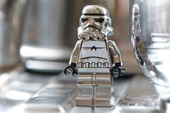 LEGO Chrome Stormtrooper (weeLEGOman) Tags: lego star wars chrome stormtrooper minifigure reflection toy macro photography uk nikon d7100 105mm robert trevissmith weelegoman
