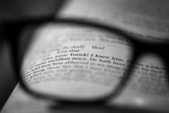 choose/pick any two (Özgür Gürgey) Tags: 105mm 2019 bw d750 goestogetherlike hamlet macromondays nikon shakespeare sigma blur book glasses macro tripod vignette istanbul sdof