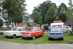 NSU Prinz4 1971 (44-17-PX) & 1000C 1972 (03-65-UU) & Prinz4 1972 (38-00-UR) (MilanWH) Tags: nsu prinz4 1971 1000c 1972 3800ur 4417px 1000 prinz white orange blue triplets threeonarow carshow ruinerwold 0365uu