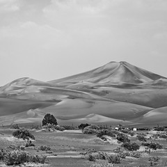 sand mountain (young00) Tags: desert sand mountain bw uae al ain hill ngc