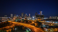 Columbus by Night 2019 (tim.perdue) Tags: columbus ohio downtown urban city skyline road highway night dark lights juniper rooftop roof smith bros brothers hardware building nikon d5600 nikkor 1680mm street curve empty architecture landscape cityscape panorama bridge overpass interchange blue hour twilight evening