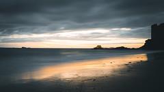 (Lilian Mérico) Tags: saint malo couché de soleil sunset sunrise plage reflet eau water coulur color nuage