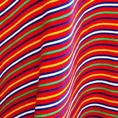 Tissu bayadère traditionnel de Madère (Des Goûts et des Couleurs) Tags: voyage travel colors rouge blog couleurs folklore couture artisanat tissu rayures folklorique couturière bayadère dgdc charlottedumas desgoutsetdescouleurs portugal funchal madère