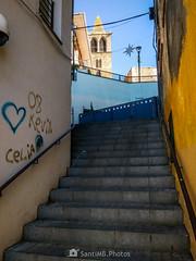 Escalas (SantiMB.Photos) Tags: 2blog 2tumblr 2ig motog3 phone móvil invierno winter callejón alley escaleras stairs campanario belltower tordera maresme geo:lat=4170157324 geo:lon=271826448 geotagged cataluna españa