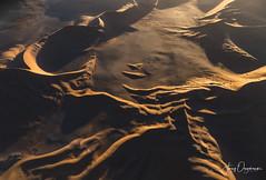 Frozen waves (Jerzy Orzechowski) Tags: shadows dunes sand landscape sunset namibia aerial sossusvlei light