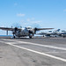 A C-2A Greyhound lands on the flight deck of USS Ronald Reagan (CVN 76)