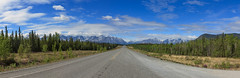 Alaska Highway (http://fineartamerica.com/profiles/robert-bales.ht) Tags: alaska fineart flickr haybales landscape people photo photouploads places projects scenic toworkon usa mountain forest valley nature highway tundra park america remote green road north national sky view calm range outdoors scenery summer ride alaskan trip outback wilderness mountainous recreation wild travel beautiful backwoods transport horizon conservation vertical tourism photography roadtrip tranquil vacation nationalpark vibrant frontier gorgeous denali mountainrange construction robertbales canada
