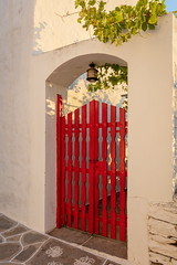 Red Gate (josullivan.59) Tags: 2019 agean artistic greece greek island june sifnos arch backlit clear color cyclades day detail europe evening gate goldenhour islands light lightanddark nicelight old orange outdoor outside red shadows sunset sunsetlight texture travel wall wallpaper warm white yellow summer