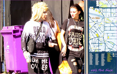 `2838 (roll the dice) Tags: london fun happy funny surreal reaction nw1 uk summer portrait england people urban hot classic tourism smile weather fashion canon sad natural candid strangers streetphotography tourists unknown wisdom mad camdentown unaware kentishtown tattoo couple purple map shock gameover fangs ripped piercing music punk makeup hair mess softcell camden shopping shops