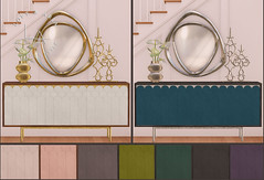 Loft & Aria - Group Gift August 2019 (Colleen Desmoulins / Loft & Aria) Tags: group gift second life mesh loft aria furniture living room credenza mirror home decor