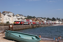LNER on the Sea Wall (Kernow Rail Phots) Tags: boundsgreen 43257 york uk sea summer people beach buildings boat town cross britain country plymouth saturday sunny august seawall crosscountry devon 24th hst 2000s arriva bathers dawlish 2019 lner class43 summersaturday 43251 0645 axc class253 1v46 2482019 railroad train colours bright railway trains railways class252