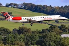 G-SAJC (GH@BHD) Tags: gsajj embraer erj145 erj145ep loganair log bhd egac belfastcityairport aircraft aviation airliner regionaljet