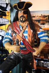 Rrrrrrr...Would Ya Like to Go to Sea,Billy? (Anthony Mark Images) Tags: pirate sculpture art advertisement store muskokasteamships gravenhurst ontario canada souvenirs eyepatch sword goatee nikon d850 flickrclickx muskoka