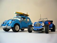 Volkswagen Beetle & 5541 Blue Fury (Fabio Molinaro) Tags: lego model team 10252 volkswagen beetle 5541 blue fury