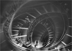 downstairs (maxmedl) Tags: rom italien italy italia roma vatikan vatican treppe escalera stairway stairs escalier monochrome schwarzweiss bw noiryblanc blancoynegro bn sw treppenhaus museum architektur architecture doppelbelichtung double exposure doubleexposure