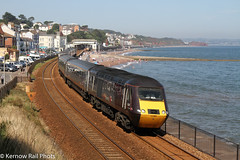 AXC Holiday Express (Kernow Rail Phots) Tags: 43366 43285 dawlish marineparade sea class43 hst 1v52 0601 glasgowcentral paignton beaches water sunny summer saturday 24th august 2019 2482019 2000s axc crosscountry train trains railway railways railroad tracks seawall glasgow town buildings summersaturday coast class252253 passengertrain class252 class253 people bathers jetty station