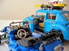 Volkswagen Beetle & 5541 Blue Fury - drive (Fabio Molinaro) Tags: lego model team 10252 volkswagen beetle 5541 blue fury