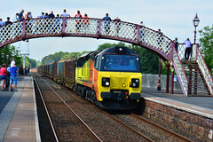 "70817 Appleby { 6J37 1258 Carlisle Yard Colas Rail to Chirk Kronospan } 260819 S Widdowson (3) (50008""thunderer"") Tags: sc 70817 appleby 6j37 1258 carlisle yard colas rail chirk kronospan logs"