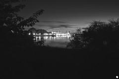 Cityscape At Night (Sylvain Ritchot) Tags: bw blackwhite blackandwhite city cityscape fujifilm 7artisan xpro1