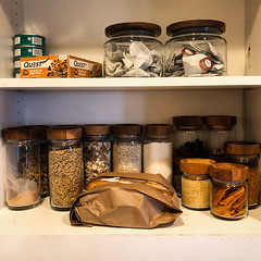 After a trip to the Container Store - West Hollywood, CA (ChrisGoldNY) Tags: chrisgoldphoto chrisgoldny chrisgoldberg bookcovers albumcovers licensing interior design kitchen jars containers organized food quest tea grains