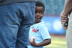 "Today's ""Play Ball"" kid was ADORABLE (Minda Haas Kuhlmann) Tags: sports milb minorleaguebaseball baseball pacificcoastleague omahastormchasers nebraska omaha sarpycounty papillion outdoors fans onfieldpromotions"