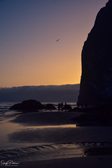 (Haystack Rock) Cannon Beach Sunset (SonjaPetersonPh♡tography) Tags: cannonbeach oregon oregoncoast pacificocean pnw pacificnorthwest ocean beach tide waves tidepools haystack haystackrock monolith nightphotography nightscenes nightsky waterscape reflections waterreflections nikon nikond5300 afsdxnikkor18300mmf3563gedvr