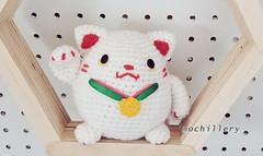 SS19 lucky cat (mochillery) Tags: amigurumi crochet plushies cute handmade mochillery lucky cat