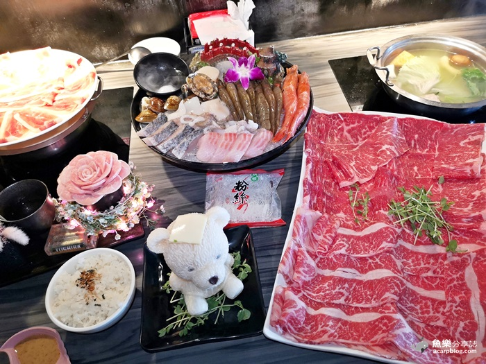 【台北中山】好食多涮涮屋|18盎司巨無霸大肉盤|萌萌泡湯牛奶熊 @魚樂分享誌