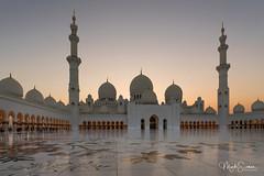 Ideally positioned (marko.erman) Tags: architecture mosque abudhabi unitedarabemirates sheikhzayed islamicart grandmosque minarets domes majestic beautiful sony wideangle courtyard pov travel popular famous sunset