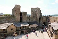 Smederevo Fortress 5 (srkirad) Tags: travel smederevo serbia srbija fortress old history medieval stone rocks towers people stairs sky sunny