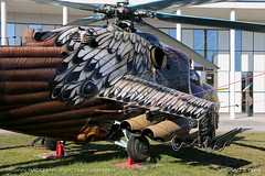 Mil Mi-24D Hind (srkirad) Tags: helicopter chopper rotor blades mil mi24d hind attack military aviationmuseum aviation museum reptar szolnok hungary russian hungarian armament rockets art paintjob