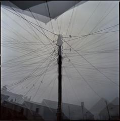 rain again (steve-jack) Tags: hasselblad 501cm 50mm cfi fuji reala 100 expired multiple exposure film 120 6x6 medium format epson v500 tetenal c41 kit perranporth cornwall