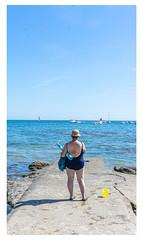 Yellow bucket... (LukeDaDuke) Tags: sarzeau breizh bretagne france frankrijk frankreich francia lafrance beach strand laplage lady woman sea ocean beachlife
