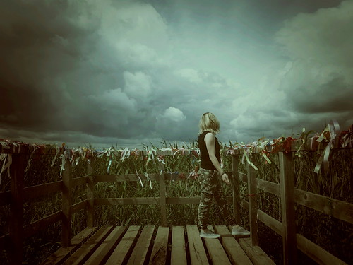 I look at clouds. I see that behind them ©  Sergei F